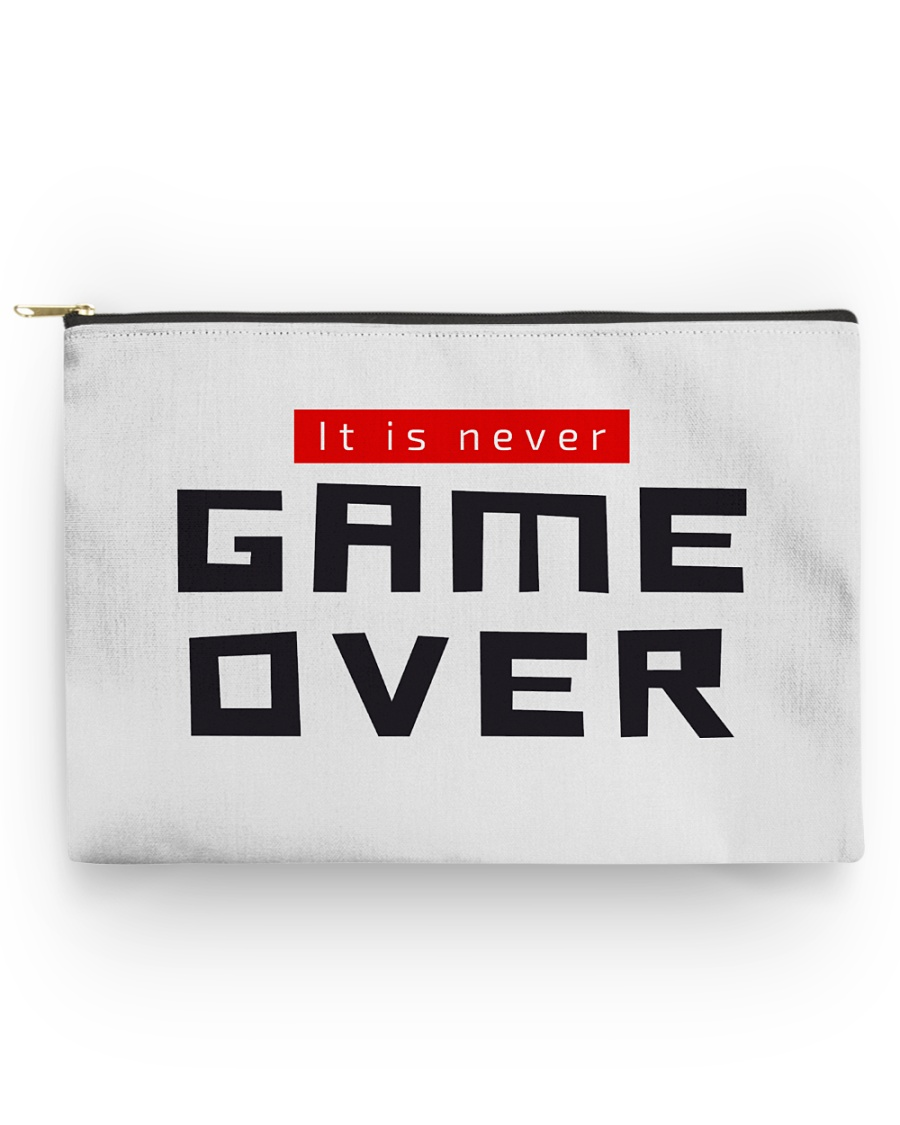 It Is Never Game Over Accessory Pouch - Large