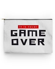 It Is Never Game Over Accessory Pouch - Large front