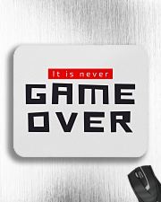 It Is Never Game Over Mousepad aos-mousepad-front-lifestyle-4