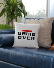 It Is Never Game Over Square Pillowcase aos-pillow-square-front-lifestyle-02