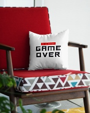 It Is Never Game Over Square Pillowcase aos-pillow-square-front-lifestyle-09