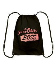 Be Your Own Boss - Female Edition Drawstring Bag thumbnail