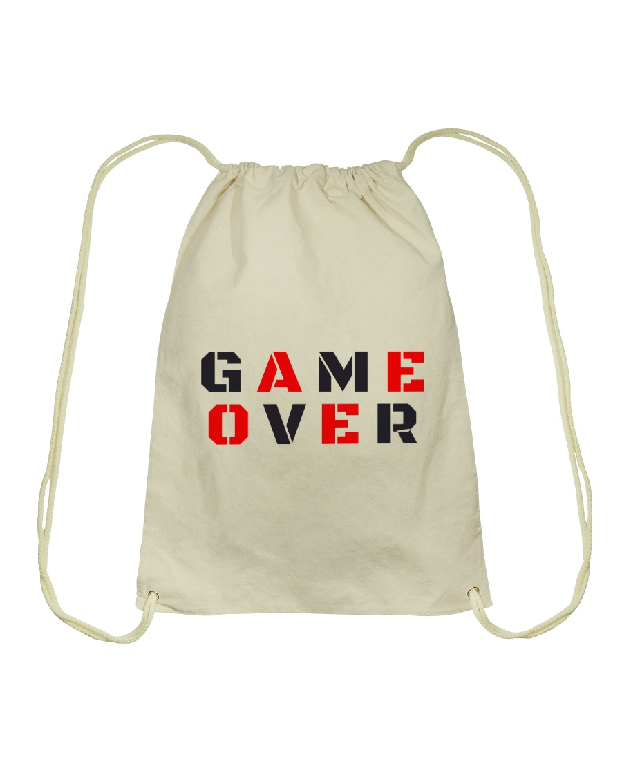 It Is Never Game Over Drawstring Bag