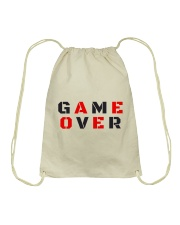 It Is Never Game Over Drawstring Bag thumbnail