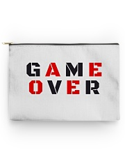 It Is Never Game Over Accessory Pouch - Large back