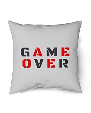 """It Is Never Game Over Indoor Pillow - 18"""" x 18"""" back"""