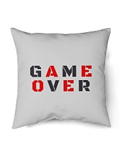 "It Is Never Game Over Indoor Pillow - 18"" x 18"" thumbnail"