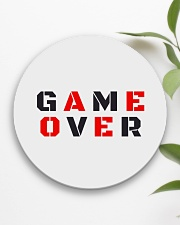 It Is Never Game Over Circle Coaster aos-coaster-round-front-lifestyle-6