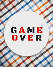 It Is Never Game Over Circle Coaster aos-coaster-round-front-lifestyle-8