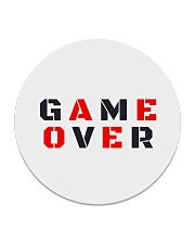 It Is Never Game Over Circle Coaster front