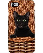 Black Cat Rattan Phone Case thumbnail