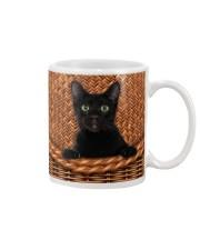 Black Cat Rattan Mug thumbnail
