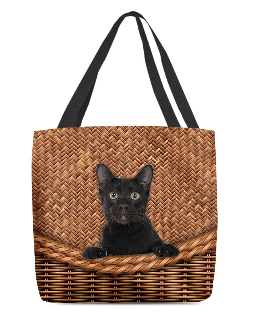 Black Cat Rattan All-over Tote