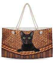 Black Cat Rattan Weekender Tote thumbnail