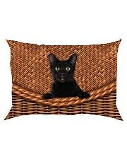 Black Cat Rattan Rectangular Pillowcase thumbnail