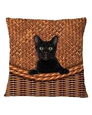 Black Cat Rattan Square Pillowcase thumbnail