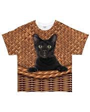 Black Cat Rattan All-over T-Shirt thumbnail