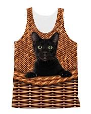 Black Cat Rattan All-over Unisex Tank thumbnail