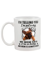 French Bulldog Telling Mug back