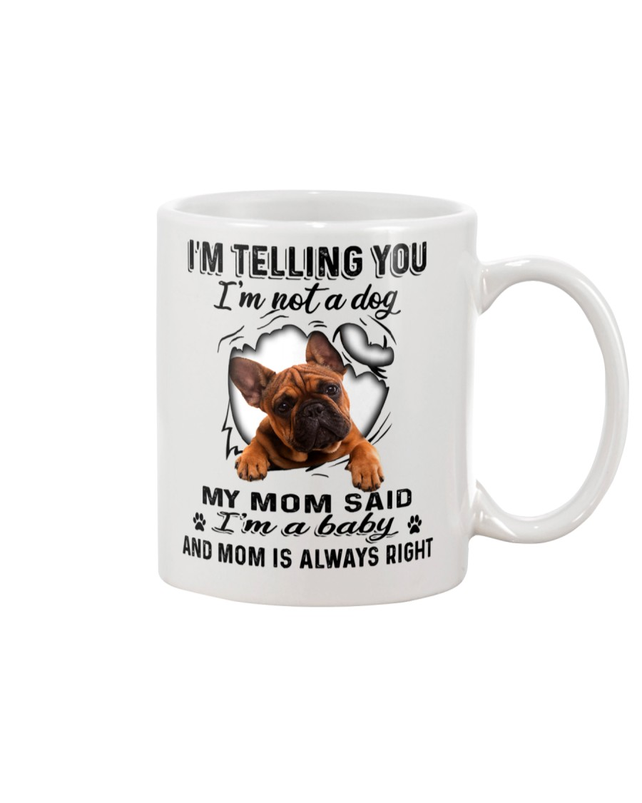 French Bulldog Telling Mug