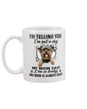 Yorkshire Terrier Telling Mug back