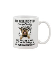 Yorkshire Terrier Telling Mug front
