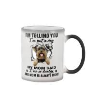 Yorkshire Terrier Telling Color Changing Mug thumbnail