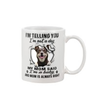Australian Kelpie Telling Mug front