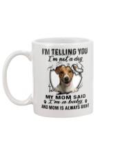 Jack Russell Terrier Telling Mug back