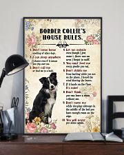 Border Collie Rules 11x17 Poster lifestyle-poster-2