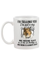 Scotch Collie Telling Mug back