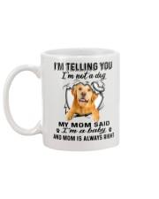 Golden Retriever Telling Mug back