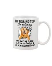 Golden Retriever Telling Mug front