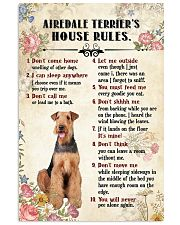 Airedale Terrier Rules 11x17 Poster front