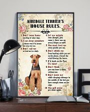 Airedale Terrier Rules 11x17 Poster lifestyle-poster-2