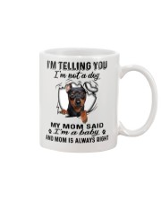 Miniature Pinscher Telling Mug front