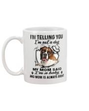Boxer Telling Mug back
