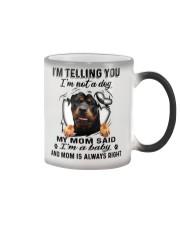 Rottweiler Telling Color Changing Mug tile