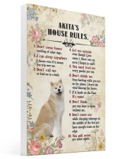 Akita Rules 16x24 Gallery Wrapped Canvas Prints thumbnail