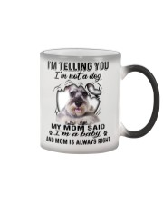 Miniature Schnauzer Telling Color Changing Mug tile