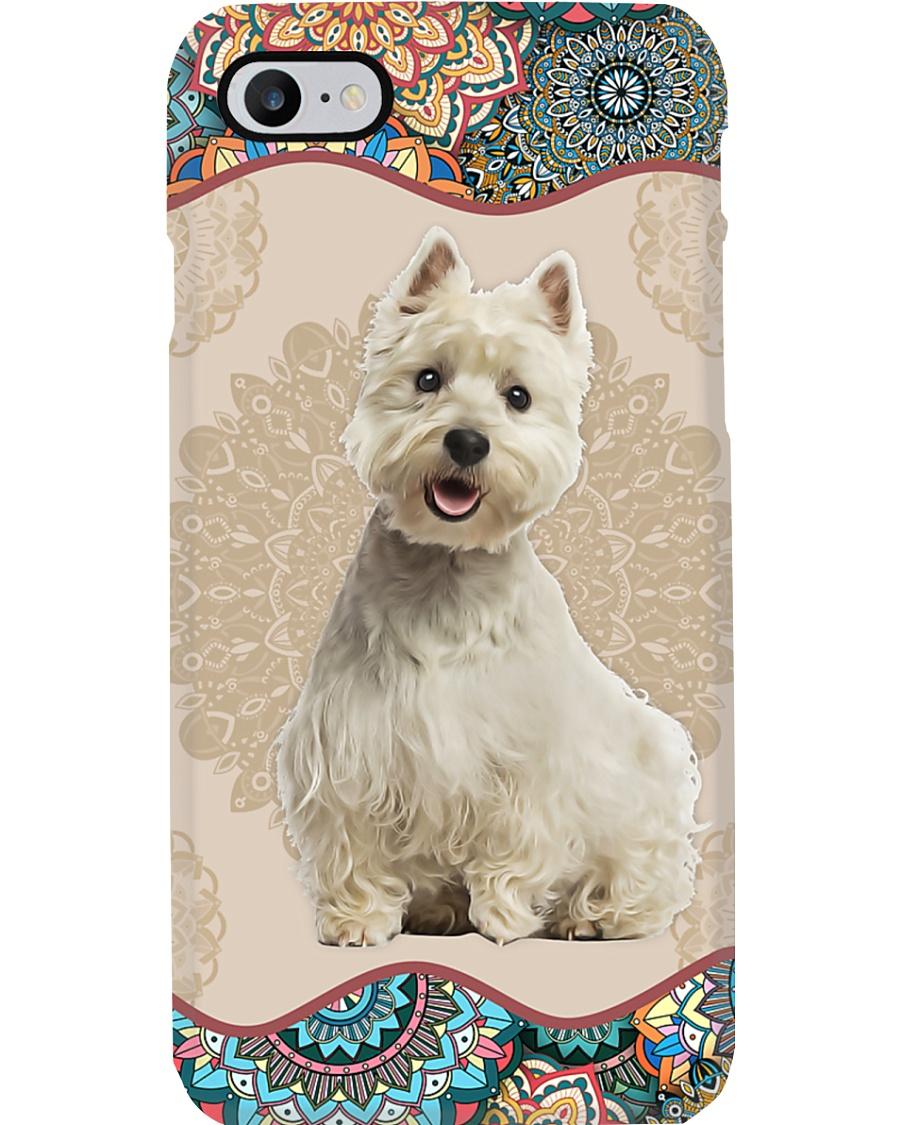 West Highland White Terrier Boho Mandala PC Phone Case