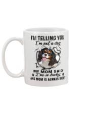 Cavalier King Charles Spaniel Telling Mug back
