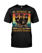 Rottweiler Favorite Classic T-Shirt front