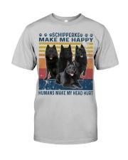 Schipperke Make Me Happy Classic T-Shirt front
