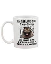 Keeshond Telling Mug back
