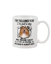 Rough Collie Telling Mug front