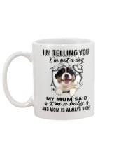 Australian Shepherd Telling Mug back