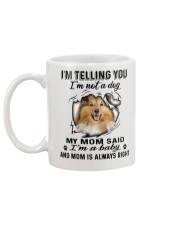 Shetland Sheepdog Telling Mug back