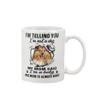 Shetland Sheepdog Telling Mug front