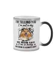 Shetland Sheepdog Telling Color Changing Mug tile